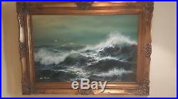Large Framed and Matted Original Oil Painting