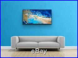 Large ORIGINAL HAND PAINTED ABSTRACT By Diane Plant 100 x 50cm Canvas Acrylic