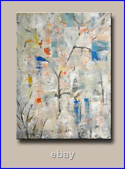 Large Original Acrylic Painting on Canvas Abstract Art. By Hunoz 33 x 43