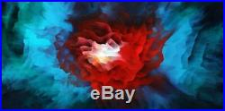 Large Original Contemporary Fine Art Red Abstract Canvas Oil Painting Tara Baden