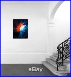Large Original Modern Fine Art Abstract Canvas Oil Painting Tara Baden Signed