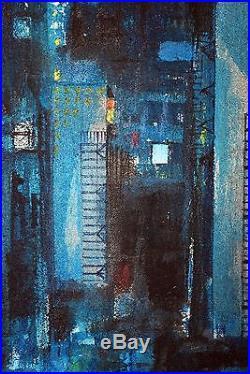 Large Original Oil Painting On Canvas Signed & Framed Ken Lawson 1920 2008