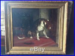 Large Original Painting Oil On Canvas After Edwin Landseer