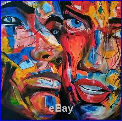 Large Original abstract Oil Painting on canvas 90X 90cm artist Kevin Richards