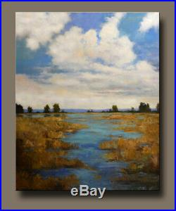 Large Painting Original Acrylic on Canvas Low Country Art. By Hunoz 36 x 48