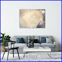 Large statement one-off original abstract painting! Navy & champagne canvas art