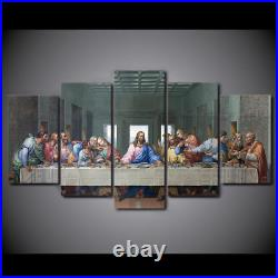 Last Supper Jesus 5 Pieces canvas Wall Art Picture Poster Home Decor