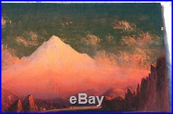 Listed Artist J. E. Stuart Original Oil on Canvas Painting 1917 RARE SUNSET GLOW