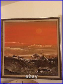 Listed Filipino Artist Paco Gorospe Org. Sgnd. Oil/Canvas Philippine Landscape