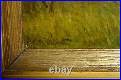 Little Bird Catchers Ambush 19C Oil Landscape Well Framed