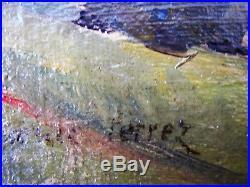 Lovely Antique Original Oil on Canvas Pastoral Landscape 16x12 Framed Signed