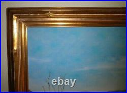 Lovely California Palm Springs Plein Air Impressionism Desertscape Oil Painting