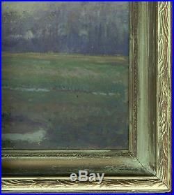 Lovely Original Antique Landscape Oil Painting On Canvas
