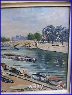 Ludwig Blum Original Oil On canvas Painting Signed Rare Paris France Old 1960