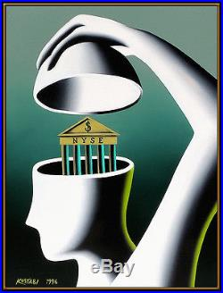 MARK KOSTABI Original oil Painting On Canvas New York Pop Art Signed Faceless