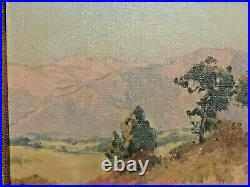 MAURICE BRAUN (1877-1941, San Diego, CA.) LANDSCAPE with MOUNTAINS, O/C, Signed