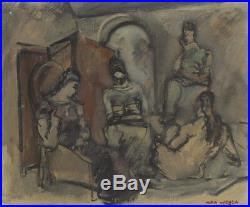 MAX WEBER Signed c. 1935 Original Oil on Canvas Painting Christie's Provenance