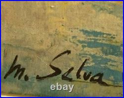 MCM Huge French Artist Marc Selva Authentic Signed/Framed Oil on Canvas Painting