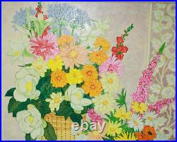 Magnificent Oil On Canvas Flowers Painting By F. A. Jessup Listed Artist