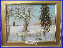 Magnificent Original Signed Charles B. Foster Oil On Canvas Farmington, Ct
