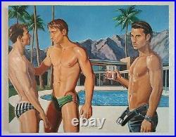 Male nude, PALM SPRINGS 2008 oil on canvas By KENT KENTMEN KENTartWORK
