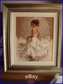 Mark Spain' Crescendo 111' Original Painting On Canvas Framed