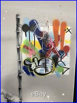 Martin Whatson & Hama Woods Bare Necessities Original On Canvas RARE UNIQUE