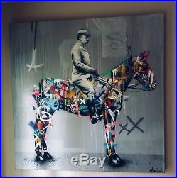Martin Whatson RIDER Original Canvas Painting XL street urban art