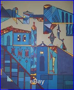 Master Cuban Artist Jose Mijares Oil on Canvas Original Art