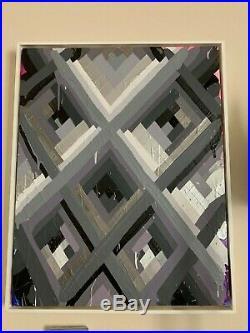 Maya Hayuk'Trails 091' 2014 Original Art Canvas Framed Signed Street not print