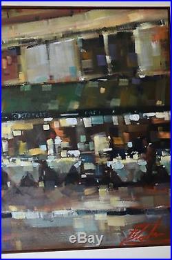 Michael Flohr Original Oil On Canvas Street Scenes Stunning Large