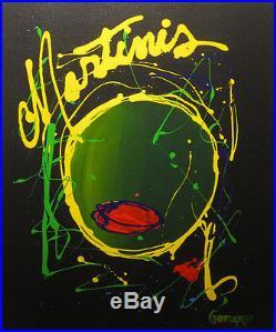 Michael Godard Olive Martinis Pop Art (Original Acrylic on Canvas)