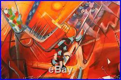 Michel Blazquez. ORIGINAL Cuban Art. Big Size. 40x30 Acrylic on canvas