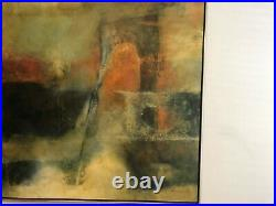Mid Century 1950's-60's Monumental Abstract Oil Painting Signed Larissa Osby