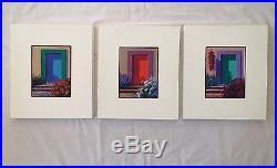 Mikki Senkarik Original Signed Art Southwest Oil on Canvas Lot of 3 Flowers Door