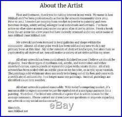 Modern Abstract Oil Painting Contemporary Original Art on Canvas Ann Mikhail Art