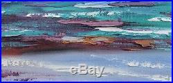 Modern Beach Painting Original oil Seascape Beach wall art on canvas G. Gercken