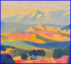 Modern Fauve Southwest Contemporary Landscape Art Oil Painting Desert landscape