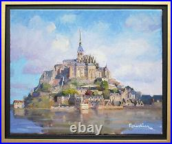 Mont Saint-michelnormandylisted Artistoriginal Oil Painting By Marc Forestier