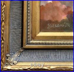 New Mexico Blue Sky framed Gold cover Gilt Framed Oil Painting Cloud 16 X18