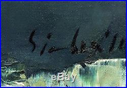 Nicola Simbari Original Oil Painting On Canvas Hand Signed Still Life Floral Art