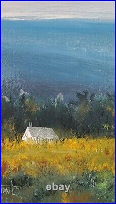 ORIGINAL Acrylic Blue Ridge Mountains Landscape impressionism Painting art Signd