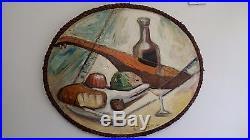 ORIGINAL EMIL FILLA (1882 1953) Antique Oil On Canvas Cubist Czech Painting