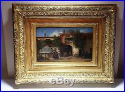 ORIGINAL FABIUS GERMAIN BREST Orientalist Istanbul Signed Oil on canvas