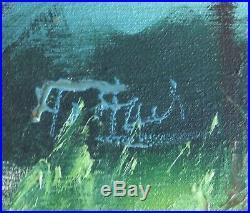 ORIGINAL FLA. HIGHWAYMAN signed Alfred Hair Oil on Canvas BACKWATER LANDSCAPE