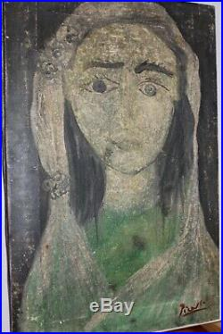 ORIGINAL PICASSO oil painting on canvas, hand signed piccaso, gallerystamp
