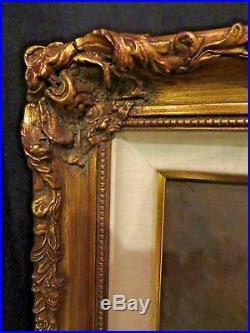 ORIGINAL Pal Fried Painting OIL on CANVAS c1960 FRAMED 31x37 stunning brunette