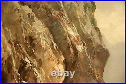 Ocean Mountain Seascape Oil Painting signed Guido Odierna (Italian, 1913-1991)