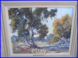 Orig Oil Painting Desertscape Scene along the Mojave Dorothy Brandt CA LISTED
