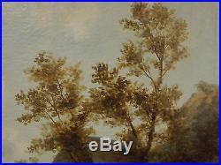Original 1800's R. Stubbs Oil on Canvas British Landscape in Gilt Frame